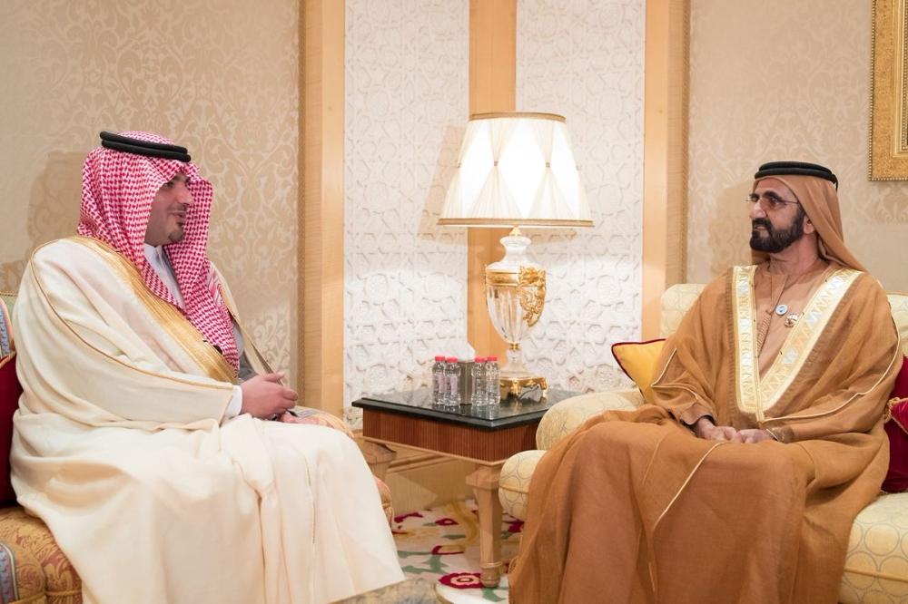 نائب الرئيس الإماراتي يستقبل سمو وزير الداخلية