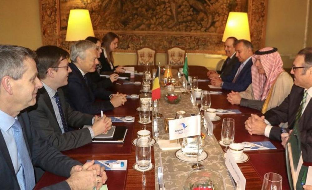 وزير الخارجية يلتقي وزير خارجية مملكة بلجيكا