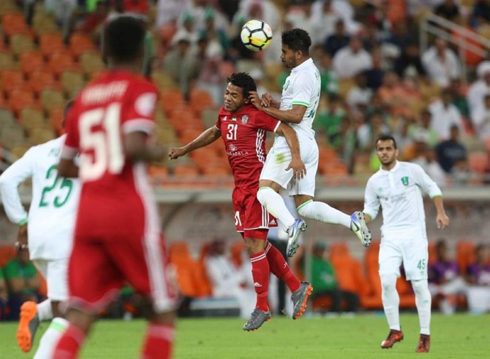 الأهلي يتصدر المجموعة بفوزه على الجزيرة الإماراتي بأبطال آسيا