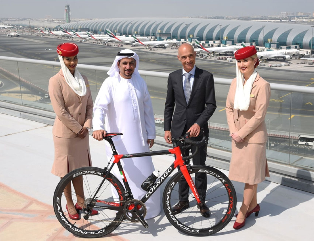 فريق الإمارات في ضيافة طيران الإمارات