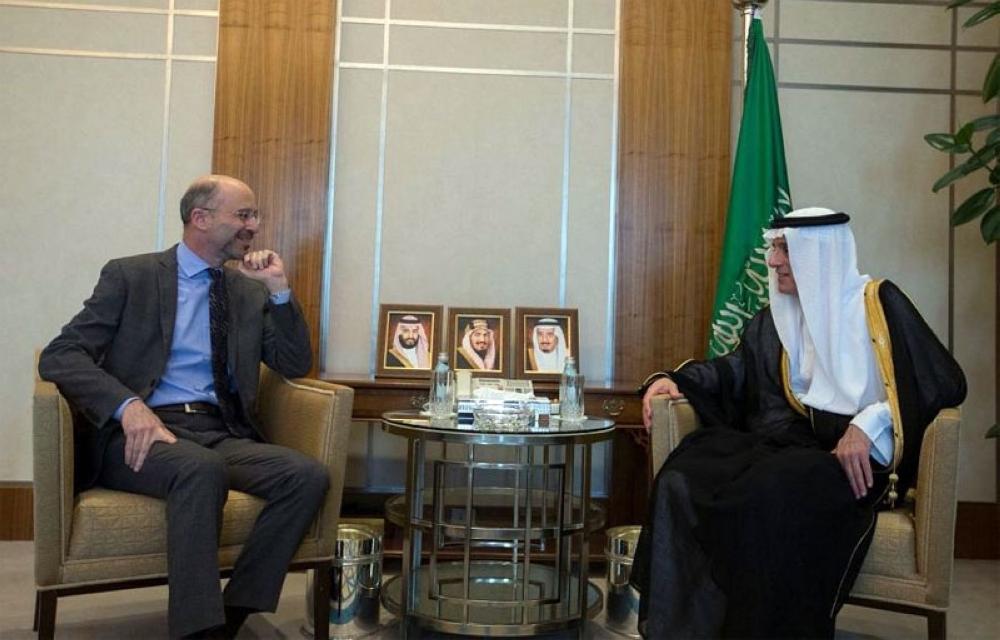 الجبير يستقبل الرئيس التنفيذي لمجموعة الأزمات الدولية في واشنطن