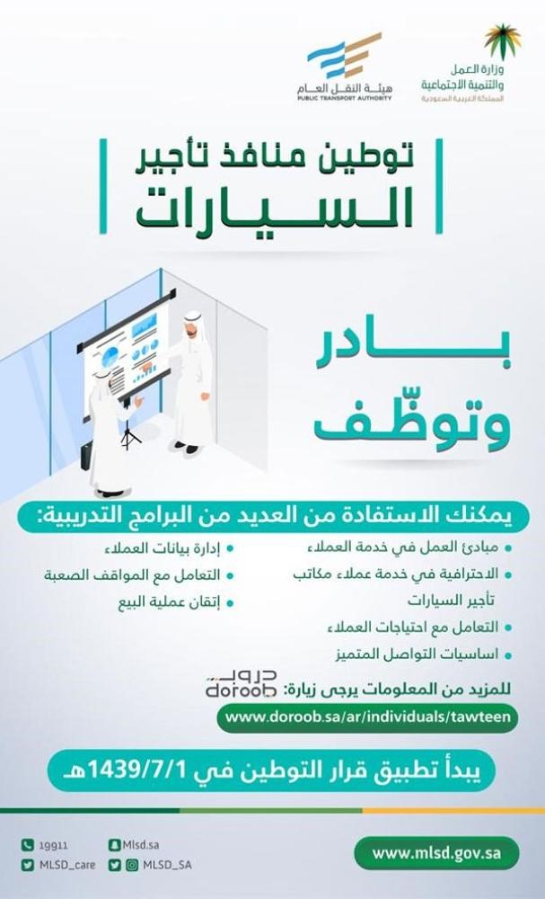 هدف 7 دورات تدريبية للسعوديين عبر دروب دعما لقرار توطين المدينة