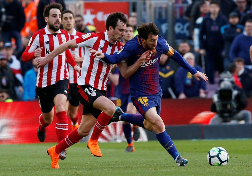 برشلونة يتغلب على اتليتك بيلباو في الدوري الاسباني