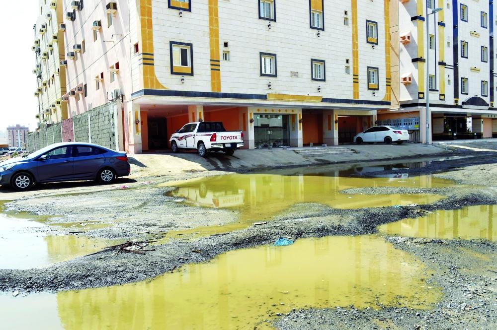 حي التيسير بجدة يغرق في مستنقعات الجوفية المدينة