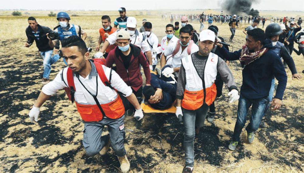 شهيدان فلسطينيان في الجمعة الرابعة من مسيرة «العودة»
