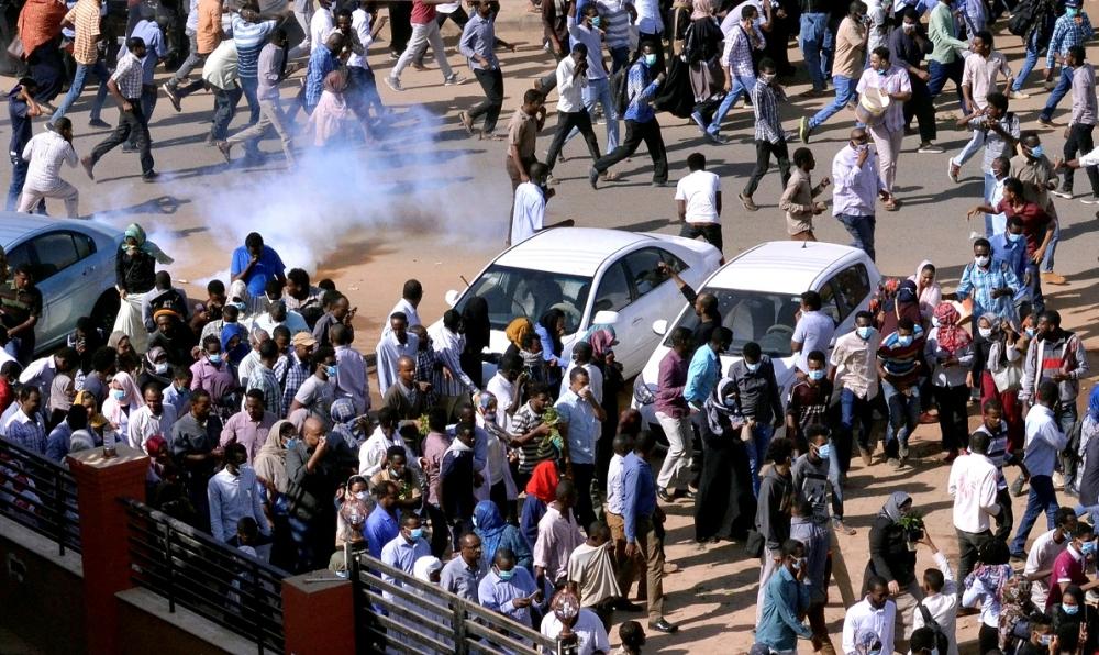 إحدى تظاهرات تجمع المهنيين السوداني