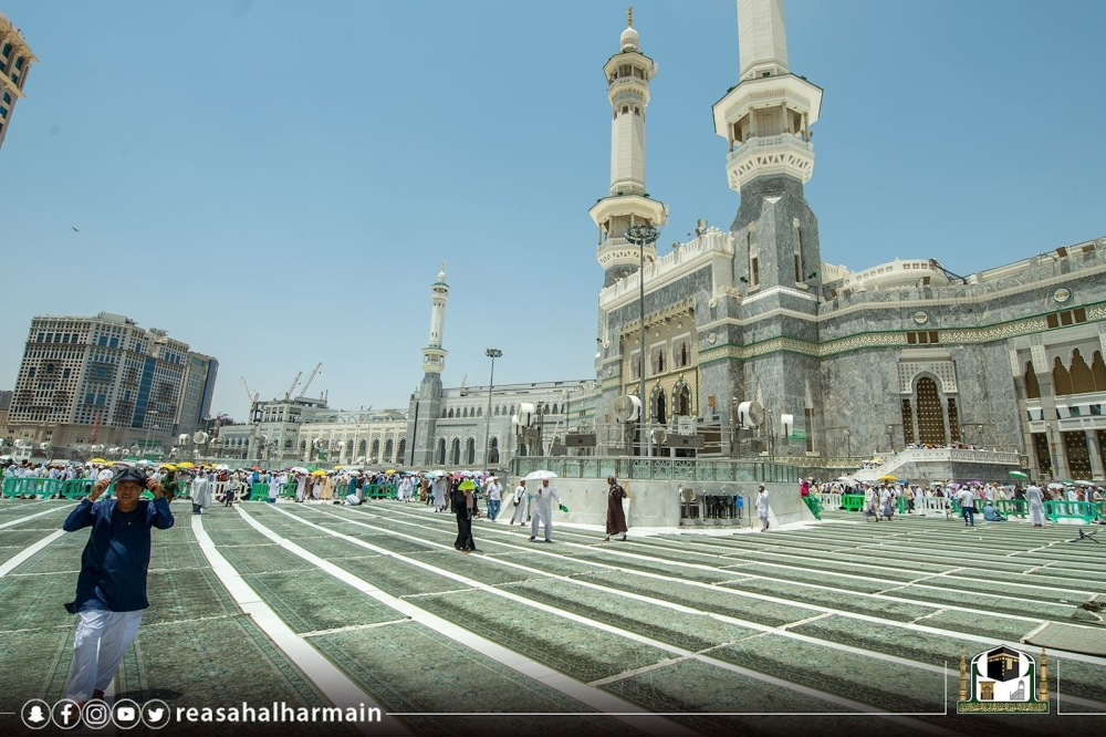 إنجاز 85 % من مشروع تطوير الساحات الخارجية بالمسجد الحرام - المدينة