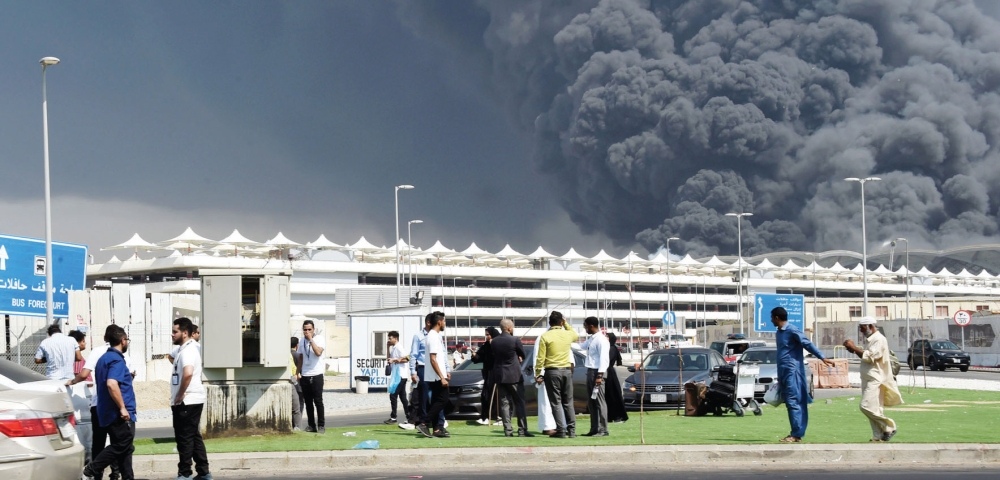 حريق في محطة قطار الحرمين بجدة ونقل 5 مصابين للمستشفى المدينة