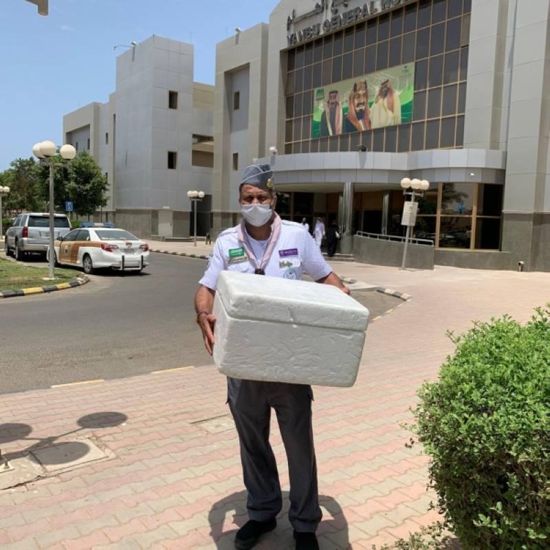 كشافة تعليم ينبع .. جهود مستمرة لإيصال الدواء إلى منازل المرضى