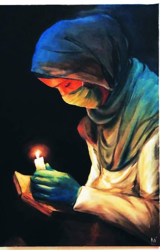 لوحة المركز الاول للفنان علي آل زياد