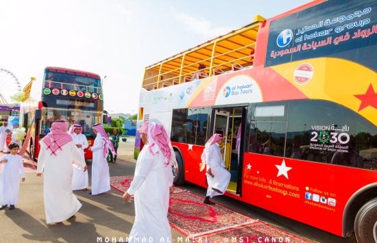 انطلاق باص الطائف السياحي في مسارين مختلفين المدينة