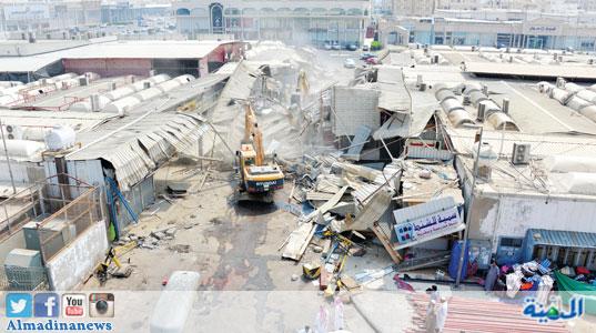 أمر قضائي بإيقاف إزالة محلات سوق البوادي بجدة المدينة