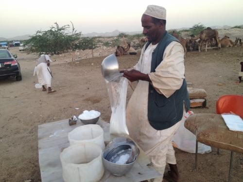 بيع حليب الإبل في البر ينافس الهيابر بالمكان والسعر المدينة